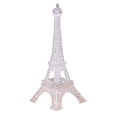 hesapli Oyuncaklar ve Oyunlar-Eiffel Tower LED Aydınlatma Şeffaf Renkli Plastikler polikarbonat Çocuklar için Genç Erkek Genç Kız Oyuncaklar Hediye