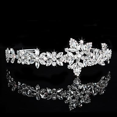 latão cristal strass tiaras cabeça clássica estilo feminino