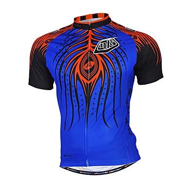 Camisa para Ciclismo Homens Manga Comprida Moto Camisa/Roupas Para Esporte Blusas Calças Respirável Redutor de SuorTerylene Tactel Náilon