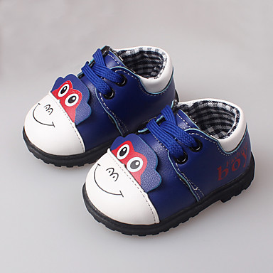 בנים תינוק שטוחות צעדים ראשונים עור אביב סתיו קזו'אל שמלה צעדים ראשונים הדפס חיות צהוב אדום כחול