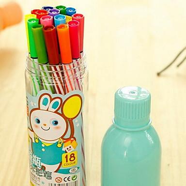 子供24色のクレヨンの学生は、ボトルのカラーペンペイントブラシをドリフト