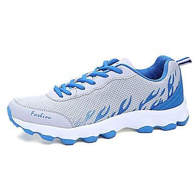 נעלי ריצה לנשים טול סניקרס אופנה שטוח נוחות העקב אתלטי כחול / ירוק / אדום