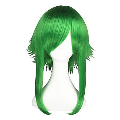 Pelucas de Cosplay Vocaloid Gumi Verde Animé Pelucas de Cosplay 22 pulgada Fibra resistente al calor Hombre Mujer Pelucas de Halloween