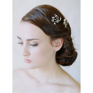 נשים סגסוגת כיסוי ראש-חתונה אירוע מיוחד פרחים Stick השיער כלי לשיער 2 חלקים
