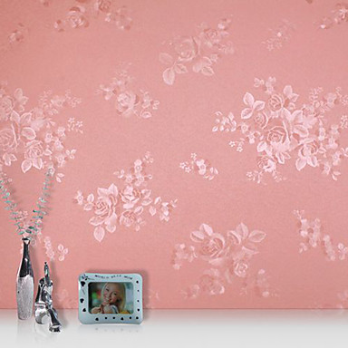 Floral 3D Decoração para casa Moderna Revestimento de paredes , PVC/Vinil Material adesivo necessário papel de parede , Cobertura para