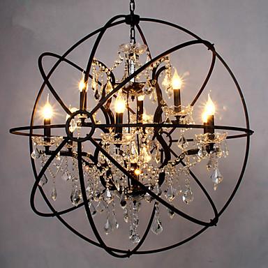 6-luz Esfera Luz ilha Luz Ambiente - Cristal, 110-120V / 220-240V Lâmpada Incluída / 15-20㎡ / E12 / E14