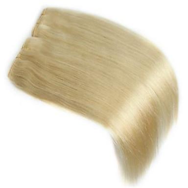Indisk hår Menneskehår Vevet Rett Hårforlengelse 1 Deler Bleik Blond