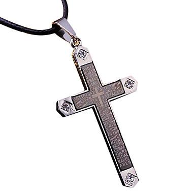 Herrn Anhänger Kreuz Titanstahl Metal Modisch Cool Schmuck Für Alltagskleidung