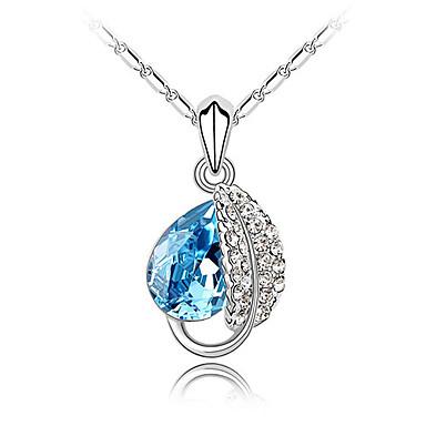 Feminino Colares com Pendentes Cristal Strass imitação de diamante Liga Moda Jóias de Luxo Branco Roxo Azul Rosa claro Jóias ParaFesta
