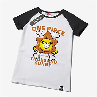 Inspiré par One Piece Monkey D. Luffy Manga Costumes de Cosplay Cosplay Hauts / Bas Imprimé Manches Courtes Tee-shirt Pour Unisexe