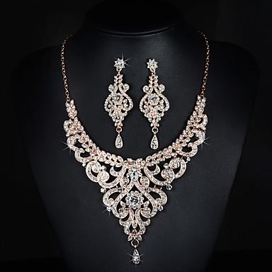 Damen Strass Aleación Hochzeit Party Besondere Anlässe Jahrestag Geburtstag Verlobung Ohrringe Halsketten Modeschmuck