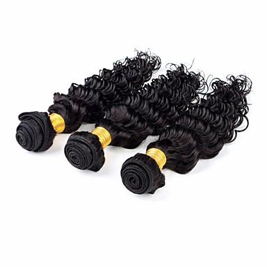 Hiukset kutoo Malesialainen Syvät aallot 3 osainen hiukset kutoo