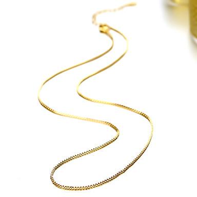 baratos Bijuteria de Mulher-Homens Mulheres Colares em Corrente Fashion Cobre Dourado Colar Jóias Para Diário Casual