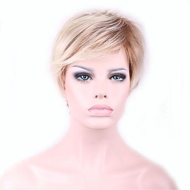 Damen Synthetische Perücken Kappenlos Glatt Kinky Glatt Blondine Gefärbte Haarspitzen (Ombré Hair) Cosplay Perücke Halloween Perücke
