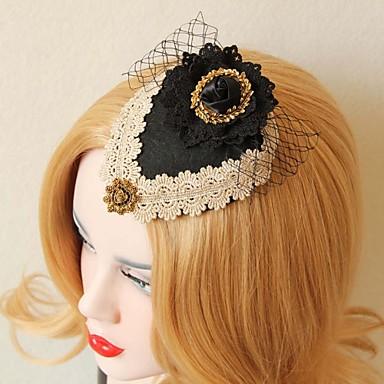 Spitze Stoff Legierung Fascinators Kopfstück klassischen weiblichen Stil