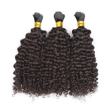 baratos Extensões de Cabelo Natural-3 pacotes Cabelo Mongol Ondulação Larga Weave Curly 8A Cabelo Humano Cabelo Humano Ondulado Tramas de cabelo humano Extensões de cabelo humano