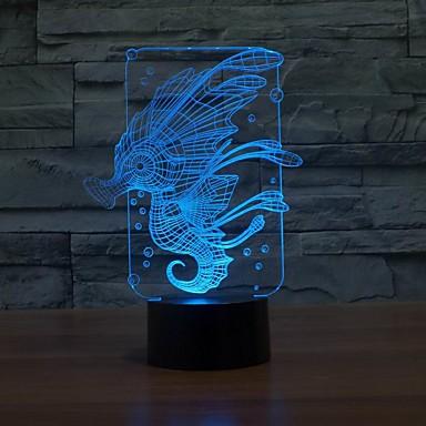 nydelig 3D LED nattlys med 7 fargeendring skrivebord tabell lys farge endring Nattlys