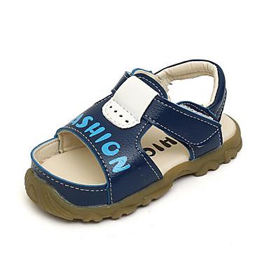Unisex sko PU Sommer Komfort Sandaler Til Avslappet Hvit Gul Blå