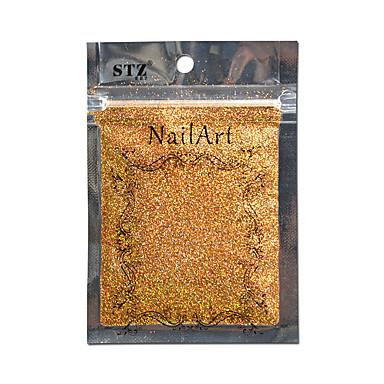 1pcs מסמר אמנות זהב צבע יפה l01 קישוט DIY לייזר נצנצים אבקת ציפורן