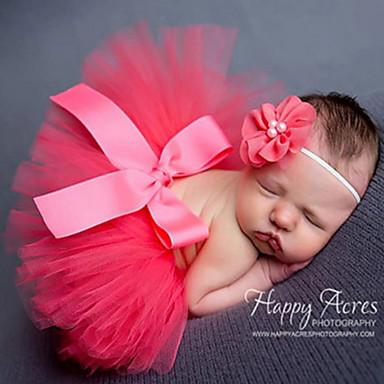 Baby Mädchen nette Art Solide Schleife Kleid