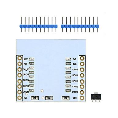 landa Tianrui tm-esp8266 esp-07 esp-12e esp-12f Wi-Fi-Wireless-Transceiver-Adaptermodul w / 3,3 V-Regler-IC -weiß