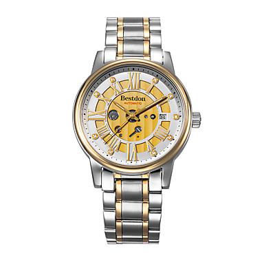 Masculino Relógio de Moda Automático - da corda automáticamente Calendário / Impermeável / Gravação Oca / Relógio Casual / Noctilucente