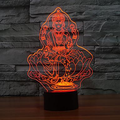 conduit lampe de table tactile pour noël atmosphère lumière de nuit lampe tactile lampara 3d nuit de changement de couleur de lumière