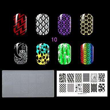 1pc Plastik die lastest Art klaren weißen Umweltreizende Nagelstempelplatte mit Mode-Muster. (Kd-sm612-010)