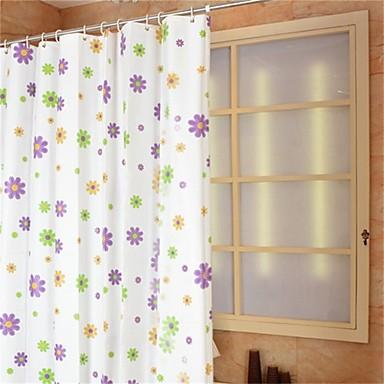 Cortinas de Banheiro Regional PEVA Floral