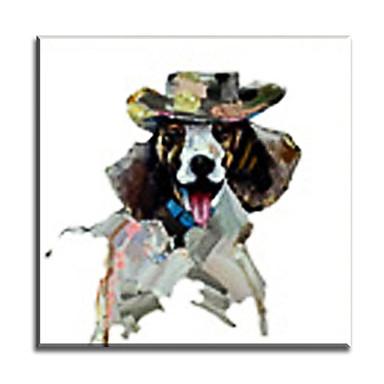 Håndmalte Dyr Vannrett,Klassisk Europeisk Stil Moderne Tradisjonell Realisme Middelhavet Parfymert Lerret Hang malte oljemaleri Hjem Dekor