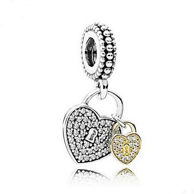 jóias DIY Prata 925 pingente de coração