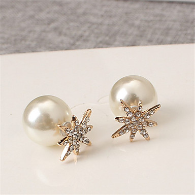 Boucles d'oreille goujon Perle Strass Alliage Mode Forme de Fleur Argent Doré Bijoux Mariage Soirée Quotidien Décontracté 1 paire