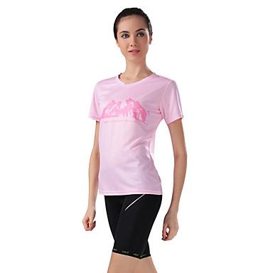 Camisa com Shorts para Ciclismo Mulheres Manga Curta Moto Camisa/Roupas Para Esporte Shorts Blusas Calças Conjuntos de Roupas Respirável