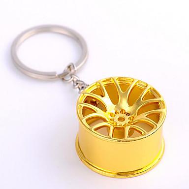מכונית גלגל מתכת מתכת תליון מפתח מתנות שרשרת מחזיק מפתחות