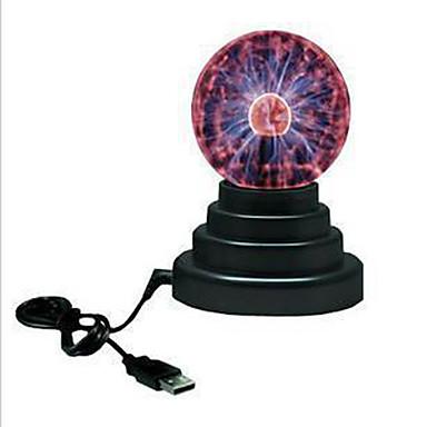 1 Stück LED-Nachtlicht USB Batterie Glas 1 Lampe 11.0*11.0*15.0cm