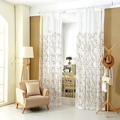 zwei Panele Rustikal / Modern / Neoklassisch / Mediterran / Europäisch Blumen / Pflanzen / Blatt / WeinrebeBlau / Gold / Erdgelb /