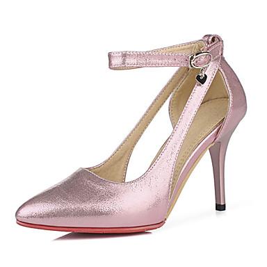 Feminino Sapatos Couro Ecológico Primavera Verão Outono Tira no Tornozelo Saltos Salto Agulha Com Presilha Para Casual Festas & Noite