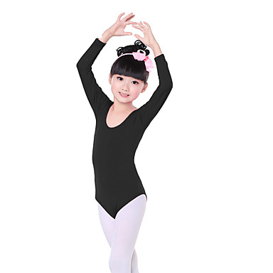 Ballett Turnanzug Training Baumwolle Rüschen Langarm Normal Gymnastikanzug / Einteiler