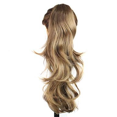 Włosy syntetyczne Peruki Falowana Z kucykiem Bez czepka Karnawałowa Wig Halloween Wig Blond