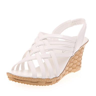 Dames Schoenen PU Zomer Sandalen Sleehak Voor Causaal Wit Zwart Beige
