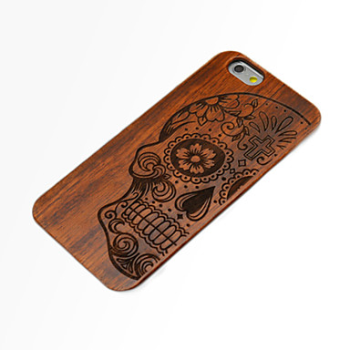 Case For iPhone 6s Plus iPhone 6 Plus iPhone 6s iPhone 6 iPhone 6 iPhone 6 Plus Embossed Back Cover Skull Hard Wooden for iPhone 6s Plus