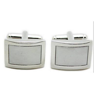 Manschettenknopf Tie Bar Krawattenklammer Kupfer Modisch cufflink Set Alltag Normal Herrn Silber
