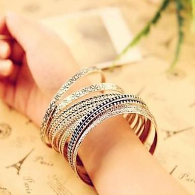 Damen Schmuckset Armreife - Retro Armbänder Silber Für Alltag Normal