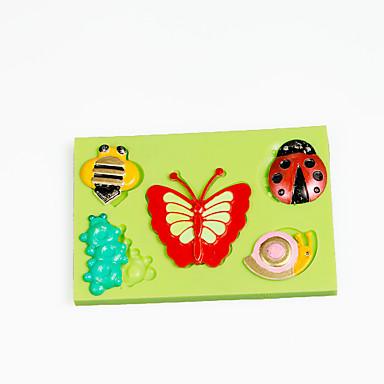 昆虫の蝶の蜂チョコレートを作るためのシリコーン金型ツールケーキの装飾金型の色ランダム
