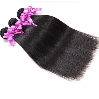 Cheveux Indiens Tissages de cheveux humains Droite Extensions de cheveux 1 Pièce Couleur naturelle