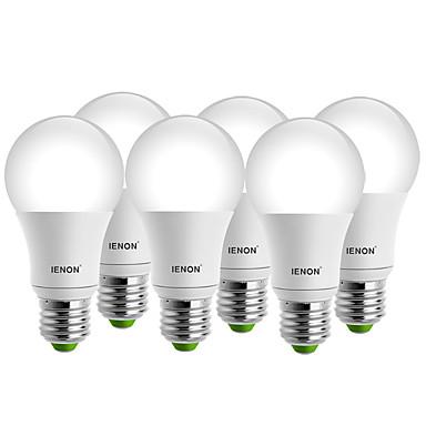 E26/E27 LEDボール型電球 A60(A19) 1 COB 400-450 lm 温白色 クールホワイト 装飾用 AC 100-240 V 6個