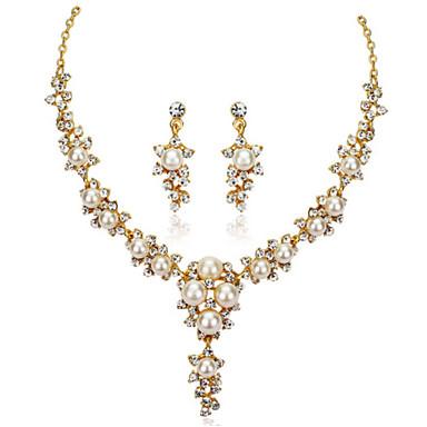 Damen Schmuckset Halskette / Ohrringe Party Modisch Hochzeit Party Ohrringe Halsketten