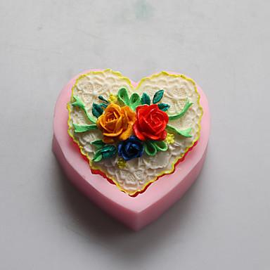 Bakeform Blomst Sjokolade Pai Til Småkake Kake Silikon GDS Valentinsdag Høy kvalitet