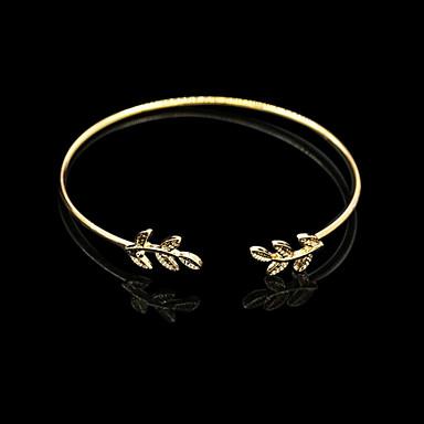 Mulheres Bracelete / Pulseiras Algema - Vintage, Aberto Pulseiras Prata / Dourado Para Presentes de Natal / Diário / Casual