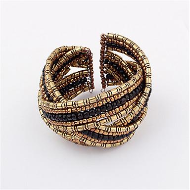 נשים צמידי Strand בוהמי מתכווננת חרוזים פתוח ארופאי סגסוגת Round Shape תכשיטים עבור יומי קזו'אל